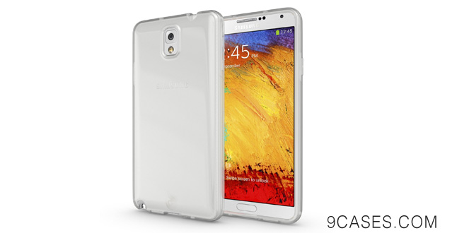 02-Diztronic High Gloss Clear (Frosted Matte Inside) Flexible TPU Case for Samsung Galaxy Note 3 - Retail Packaging