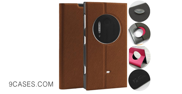 03-YESOO™ Nokia Lumia 1020 Leather Protective Wallet Case Cover (Brown)