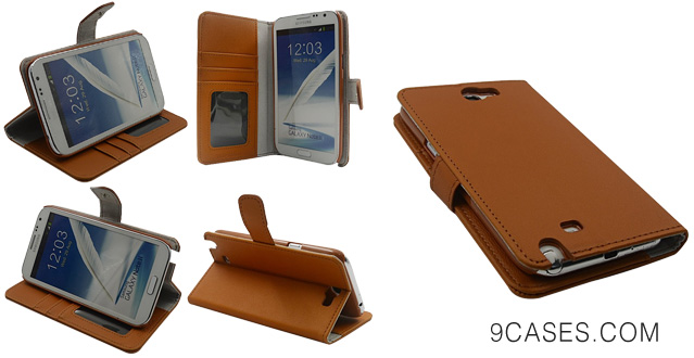 Bear Motion Premium Folio Case for Samsung Galaxy Note 2 Note II N7100 with Snap Button Closure