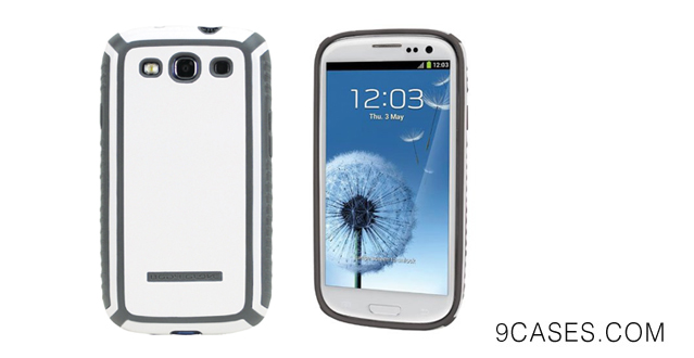 Body Glove Tactic Cell Phone Case for Samsung Galaxy S III White/Grey (9285001)