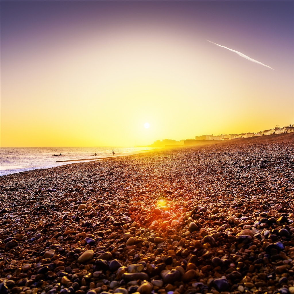 Brighton-Beach-Sunset-ipad-4-wallpaper-ilikewallpaper_com_1024