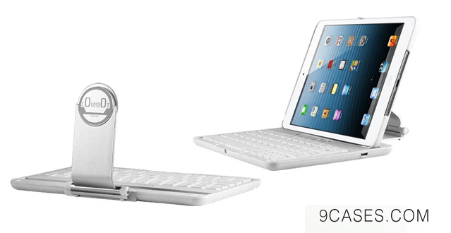 CoverBot iPad Mini Ultra Bluetooth Keyboard Station WHITE with Magnetized Detachable Case For 7