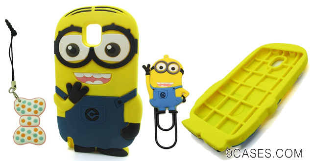 DD(TM) Double Eyes-Navy Blue 3D Cartoon Cute Despicable Me 2 Minions Henchmen Soft Silicone Case Skin Protective Cover for Samsung Galaxy Note 3