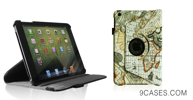 Fintie (Black) 360 Degrees Rotating Stand Leather Case Cover