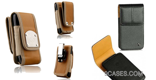 Gladiator Nubuck Brown Leather Super Strong Rugged Duty Belt Case with Metal Clips for Nokia Lumia 1020