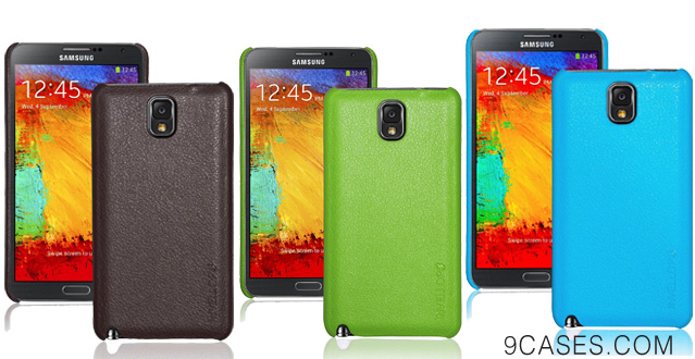 INVELLOP Chocolate Brown Leatherette case cover for Samsung Galaxy Note 3 Note III