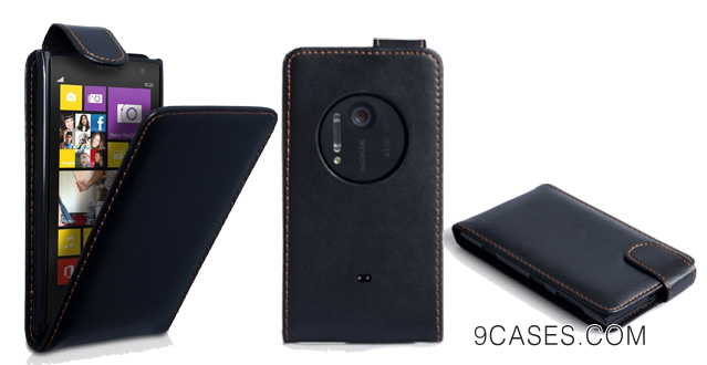 Nokia Lumia 1020 Case Black PU Leather Flip Cover With Stylus Pen
