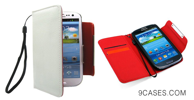 Wallet PU Leather case Card Holder Flip Case Cover for Samsung i9300 Galaxy S3 III, White