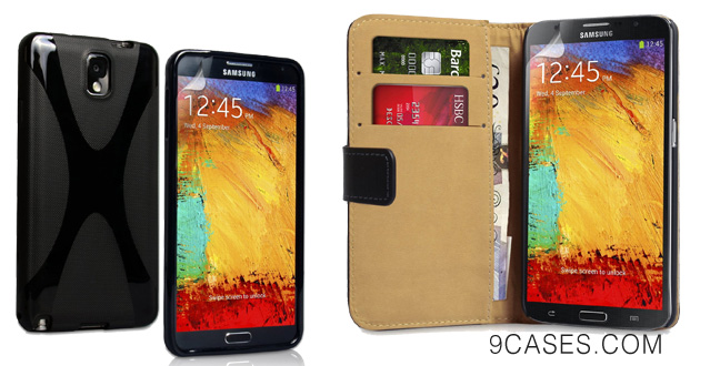 Yousave Samsung Galaxy Note 3 Case Black X-Line Silicone Gel Cover