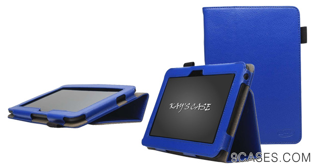 01-KAYSCASE FlipStand Slim Cover Case for Amazon Kindle Fire HD 7 inch Tablet, Dolby Audio Dual-Band Wi-Fi, 16 GB Blue