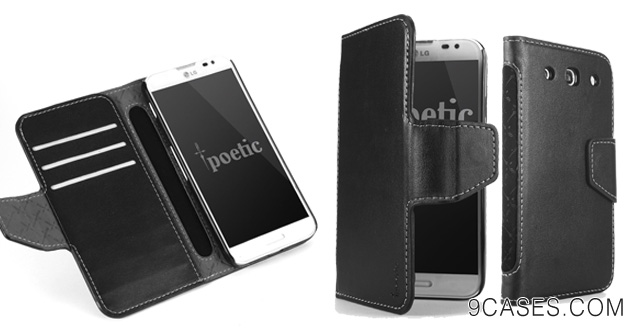 04-Poetic Slimbook Case for LG Optimus G Pro Black (3 Year Manufacturer Warranty From Poetic)