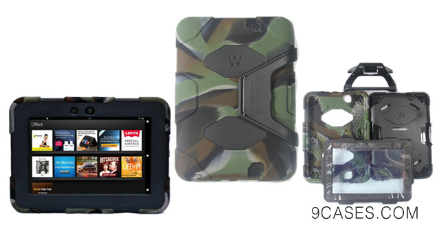 06-Kindle Fire HD 7 Cover Case New Hot Item High Quality Slim Fit Silicone Plastic Dual Protective Back Cover Standing Case Kid Proof Case for Amazon Kindle Fire HD 7 Inch