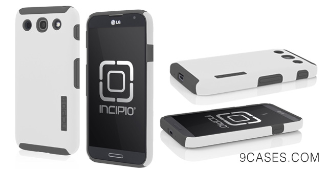 07-Incipio LGE-186 DualPro Case for the LG Optimus G Pro - 1 Pack - Retail Packaging - Optical White Charcoal Gray