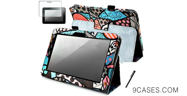 10-Fits Amazon Kindle Fire HD 7 Amazon Snap on Cover 7 Graffiti 2 Pattern PU Leather with Stand Folio + Pen + LCD screen protective film