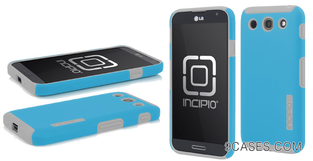 12-Incipio LGE-185 DualPro Case for the LG Optimus G Pro - 1 Pack - Retail Packaging - Blue Gray