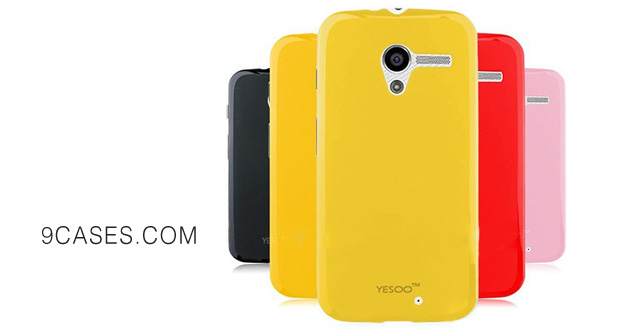 28-YESOO™ Slim Fit TPU Silicone Gel Candy Case Cover For Motorola Moto X Google Phone (Yellow)