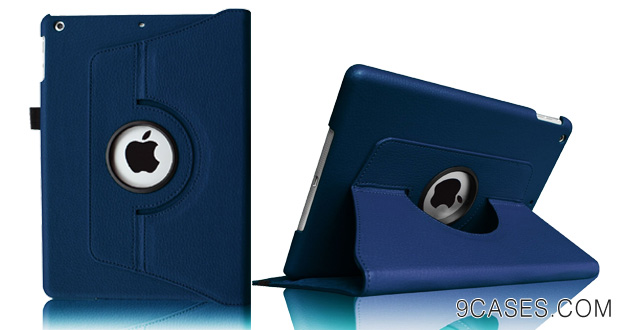 07-Fintie Apple iPad Air Case 360 Degree Rotating Stand Leather Case Cover with Auto Sleep Wake Feature for iPad Air iPad 5 (5th Generation) Navy