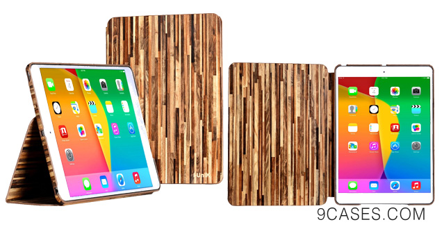 08-i-UniK American Forest series Apple iPad Air Slim Protection Case with built in Sleep Awake Function - (Hickory)
