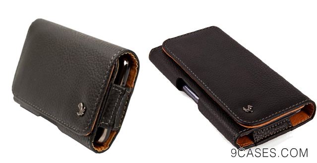 09-Black Horizontal Executive Textured Leatherette Holster Case with Fixed Belt Clip for LG Google Nexus 5 Nexus 4 E960  LG G2 + SumacLife TM Wisdom Courage Wristband