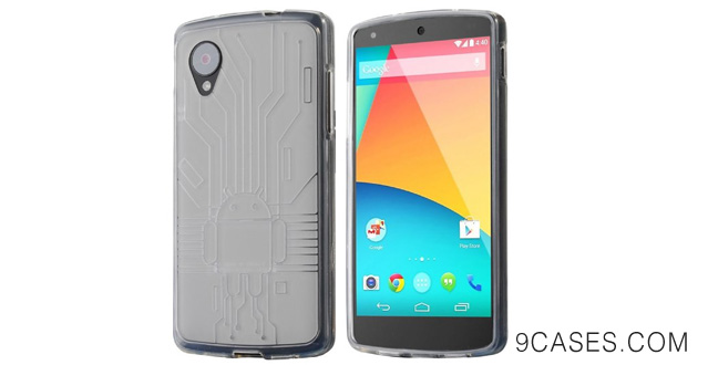 12-Cruzerlite Bugdroid Circuit Case for LG Nexus 5 - Retail Packaging - Clear