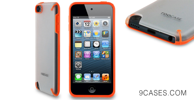 12-rooCASE Fuse (Frost  Orange) Snap-On Shell Case for Apple iPod Touch 5 (5th Generation Sept 2012)
