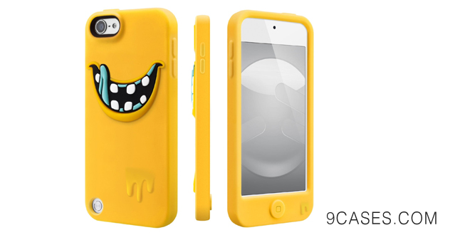 14-SwitchEasy MONSTERS Silicone Case for iPod Touch 5G, (Freaky Yellow)