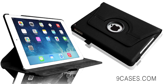21-Fintie Apple iPad Air Case - 360 Degree Rotating Stand Leather Case Cover with Auto Sleep  Wake Feature for iPad Air  iPad 5 (5th Generation) - Black