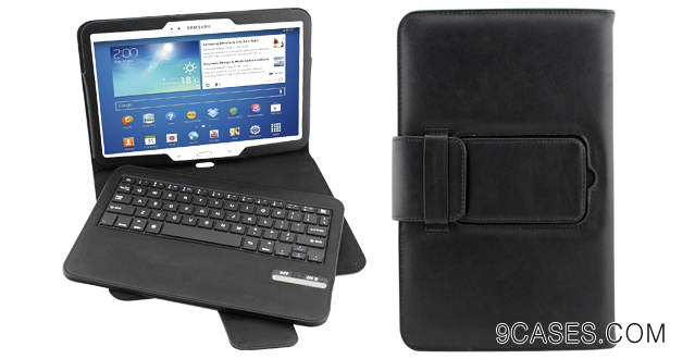 02-Dealgadgets Samsung Galaxy Tab 3 10.1 Inch Removable Detachable Wireless Bluetooth Keyboard Pu Leather Case Tablet Stand Style(samsung Galaxy Tab 3 10