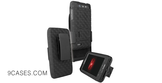 09-Motorola Droid 4 Shell Holster Combo with Stand XT894 - Verizon Original