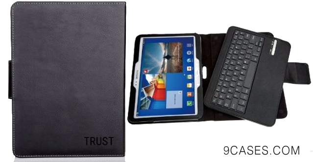 09-TRUST Samsung Galaxy Tab 3 Bluetooth Keyboard Case with Detachable Keyboard for Samsung Galaxy Tab 3 10