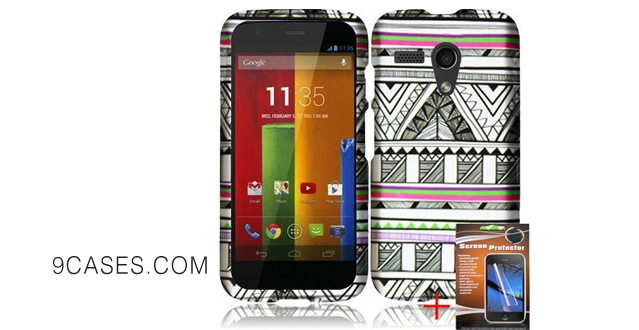 12-For Motorola Moto G XT1032 (2) Piece Antique Aztec Tribal Snap On Protective Cover Durable Design Premium Protector Accessory Case Shine Wireless Brand + FREE HIGH QUALITY SCREEN PROTECTOR