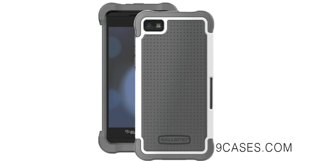 13-Brand New Ballistic Blackberry Z10 Sg Case (Charcoal White)