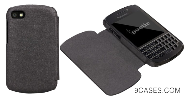 09-Poetic FlipBook Case for BlackBerry Q10 Black (3 Year Manufacturer Warranty From Poetic)