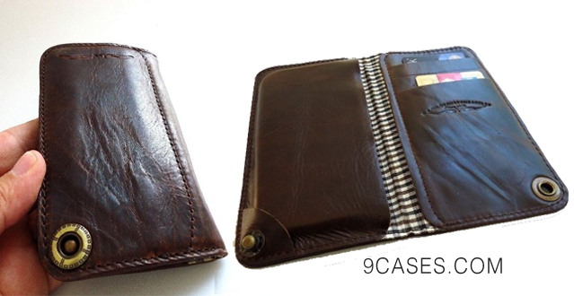 01-Genuine Leather Case for Sony Xperia Z2 Book Wallet Handmade Id Z 2 Free Shipping