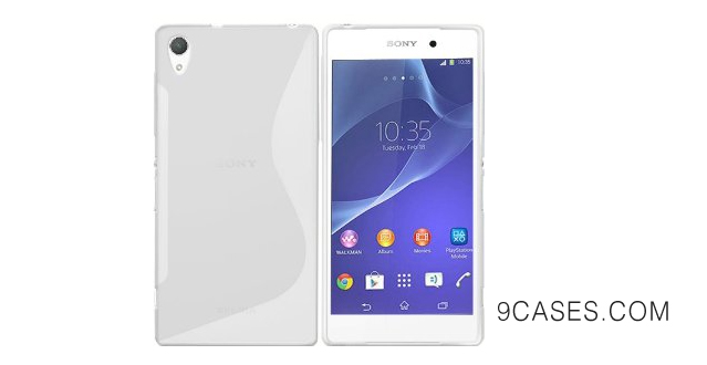 03-New Sony Xperia Z2 2014 CLEAR 'S' Line Wave Gel Silicone Hybrid Case Cover Skin With BONUS Sony Xperia Z2 Screen Protector - Accessories Accessory By InventCase