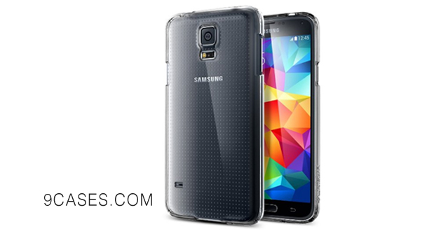 05-360 PROTECTION Spigen Samsung Galaxy S5 Case Slim NEW Release Ultra Fit Shell Crystal Premium All Around Protection Clear Hard Case for Galaxy S5