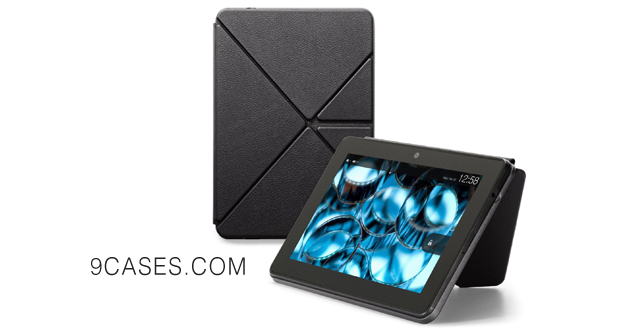 06-Amazon Kindle Fire HDX Standing Leather Origami Case