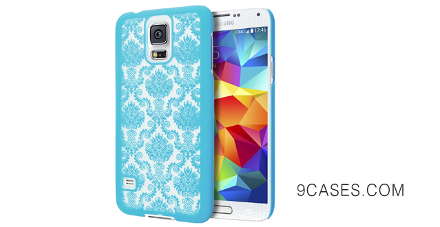 06-Cimo Samsung Galaxy S5 Case [Damask Series] Design Pattern Rubber Coating Premium ULTRA SLIM Hard Cover for Galaxy S5