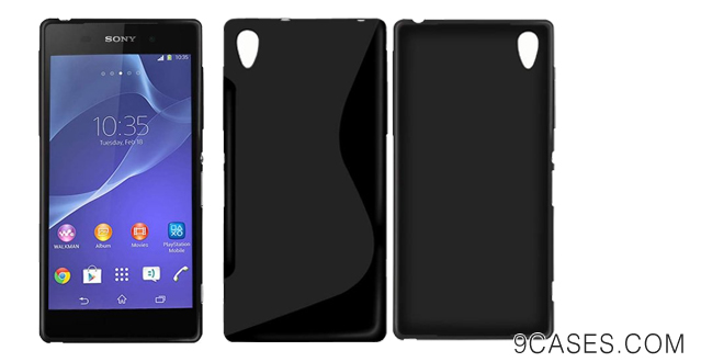 06-New Sony Xperia Z2 2014 BLACK 'S' Line Wave Gel Silicone Hybrid Case Cover Skin With BONUS Sony Xperia Z2 Screen Protector - Accessories Accessory By InventCase