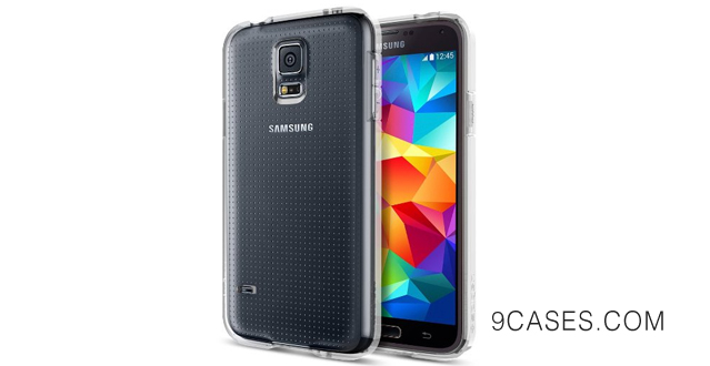 07-STRONG FLEX Spigen Samsung Galaxy S5 Case Clear NEW Release Ultra Fit Capsule Clear Premium Clear TPU Case Soft for Galaxy S5