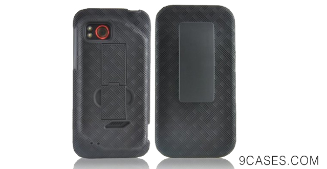 01-Generic Extended Battery Shell Holster Combo Case + Kickstand