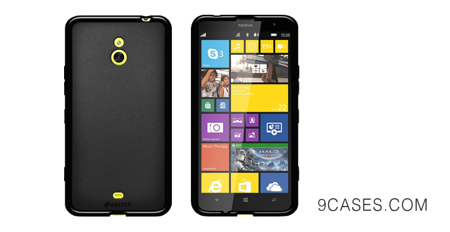03-Amzer Pudding Soft Gel TPU Skin Fit Case Cover for Nokia Lumia 1320 - Retail Packaging - Black