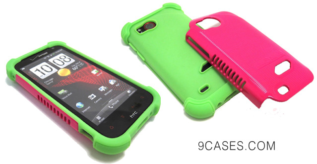 06-Cell-Nerds NerdShield GRIP Case Cover (Lime Green and Pink)