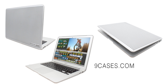 08-Snugg MacBook Air 13-inch Hard Case Cover in Silver- High Quality lightweight Case that clips to the Apple Macbook Air 13