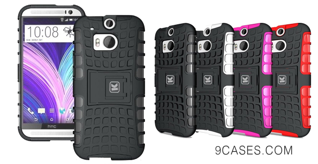 09-KAYSCASE ArmorBox Heavy Duty Cover Case for HTC One (m8) (HTC One+, HTC One Plus, HTC ONE 2, M8, the All New One) (Lifetime Warranty) (Black)