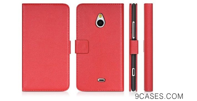 09-Katecase Litch Pattern PU Leather Wallet Pouch Cover Case for Nokia Lumia 1320