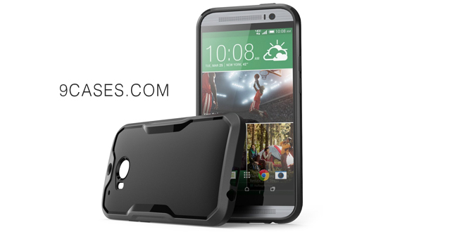 12-SUPCASE All New HTC One M8 Case - Unicorn Beetle Premium Hybrid Protective Case for HTC One 2014 (Black Black)