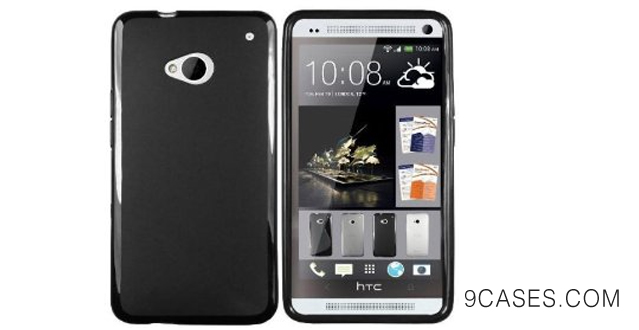 15-Exact Jelly Series SoftGel Flexible TPU Case for HTC One M8 Black