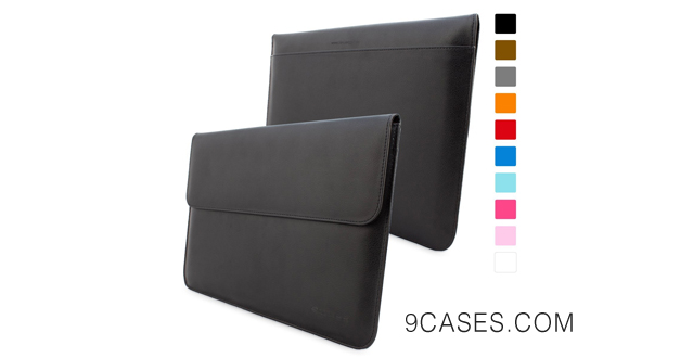 19-Snugg Black MacBook Air 13-inch & Pro Retina 13-inch Leather Sleeve Case with Lifetime Guarantee - High Quality Case with Card Slot, Pocket and Premium Nubuck Fibre Interior