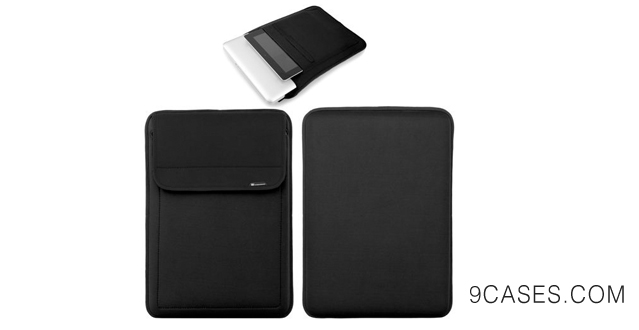 20-CaseCrown Neoprene Sleeve Case (Black) for 13 Inch Macbook Air  Macbook Pro with Retina Display + Pocket for iPad 4  iPad 3
